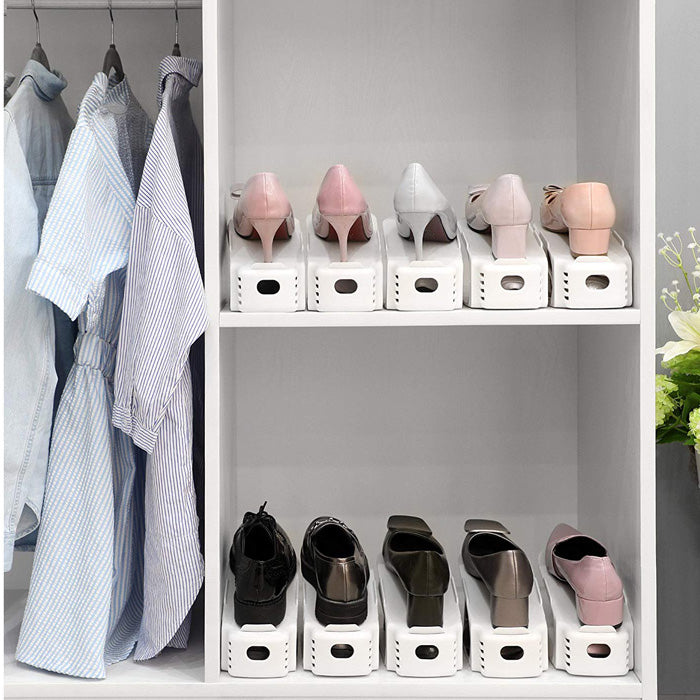 Easy Adjustable Shoe Slots Organizer Space Saver for Shoe Storage