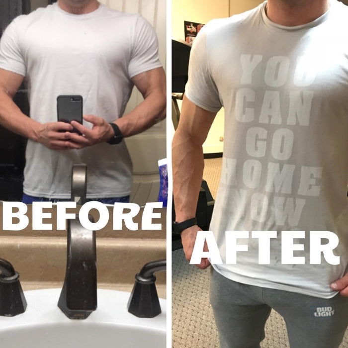 You Can Go Home Now Sweat Activated Men Gym Shirt Workout Fitness Original
