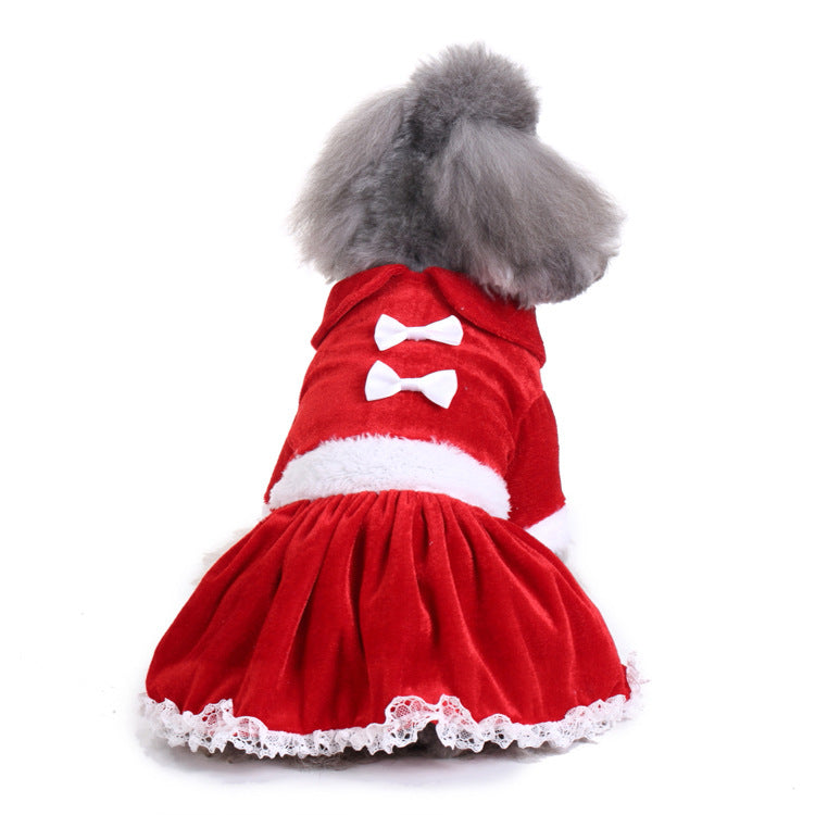 Christmas Tutu Dress Pet Dog Puppy Costume Pet Supplies