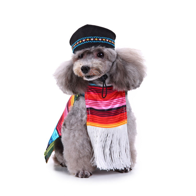 Christmas/Halloween Folk Style Pet Dog Puppy Costume Pet Supplies (With Hat)