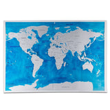 Travel World Scratch Map Ocean Scratch Off Foil Layer Coating World Scratch Map