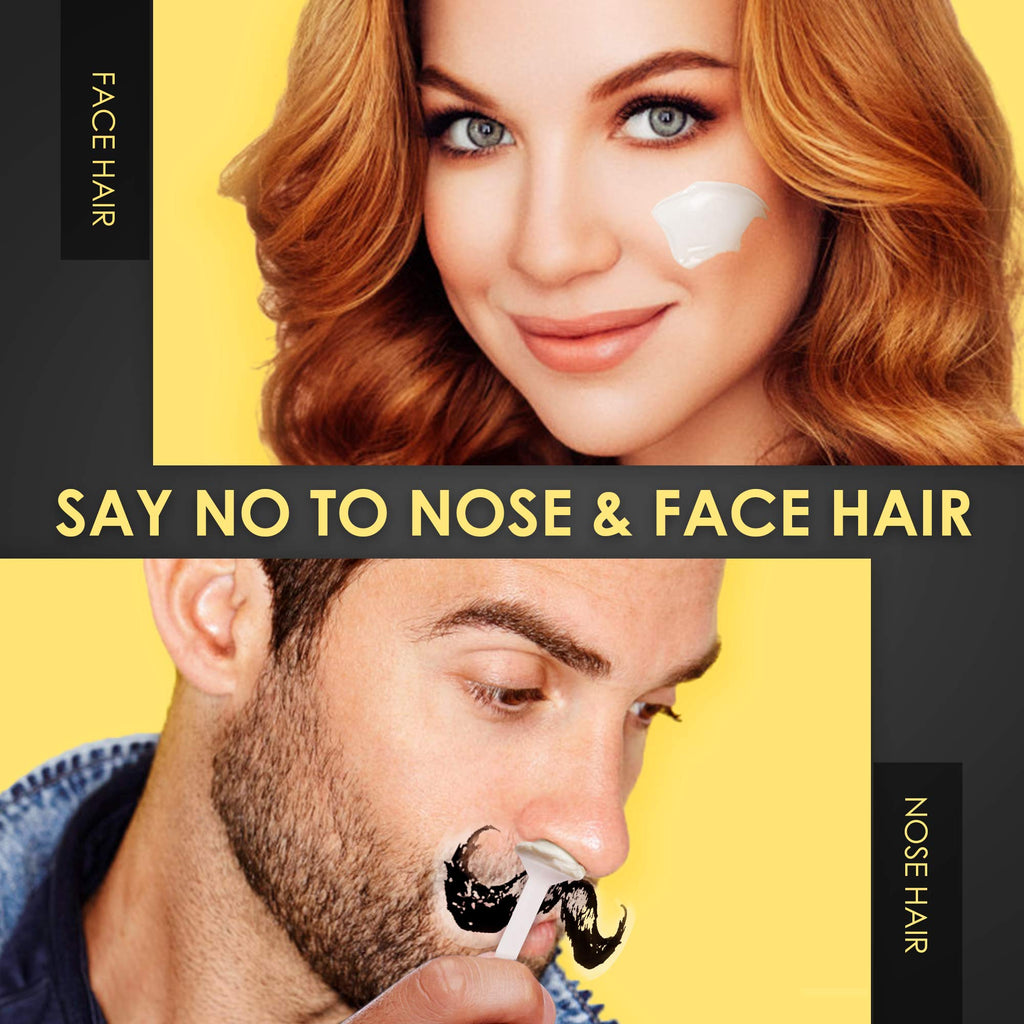 Nose Wax Kit for Men and Women, Hair Removal Waxing Kit for Nose, Ear and Eye-brow Hair Removal