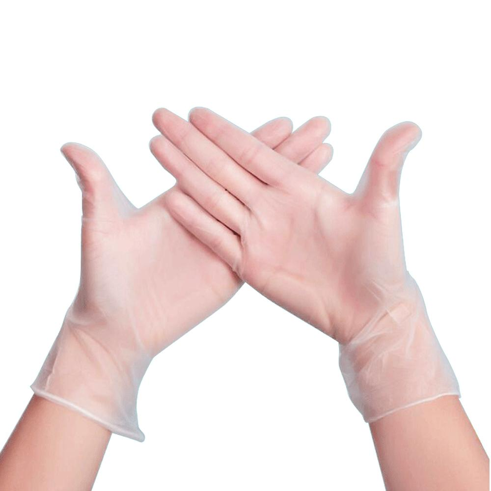 PVC Gloves-Disposable, Powder Free, Industrial, 3 mil, Small, Clear (Box of 100)