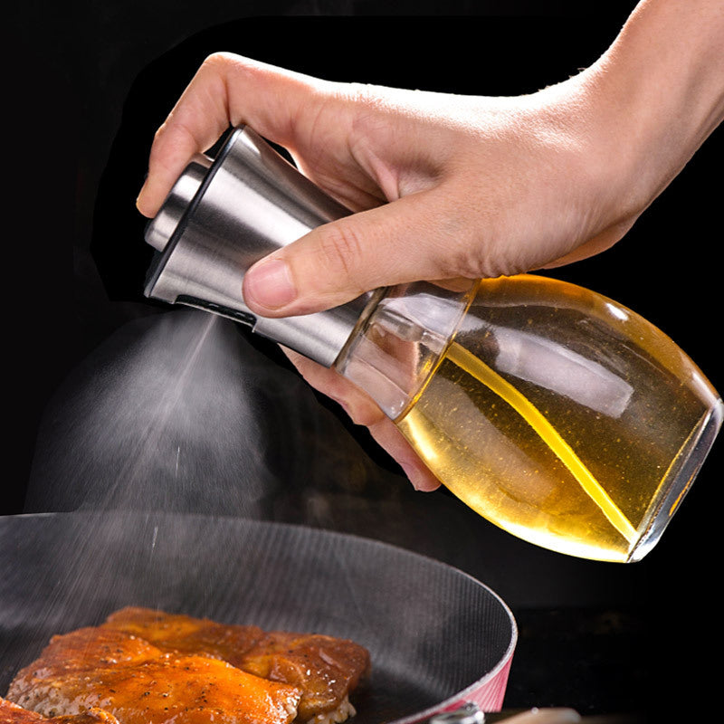 200ML Oil Sprayer for Cooking Glass Atomizer/Sprayer Mister Bottle for Grill Oil, Vinegar, Cooking Oil, Vegetable Oil, Sesame Oil, Canola Oil