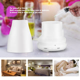 100ml Essential Oil Diffuser, Cool Mist Humidifier with Adjustable Mist Modes, Waterless Auto Shut-off and 7 Color LED Lights Changing for Home