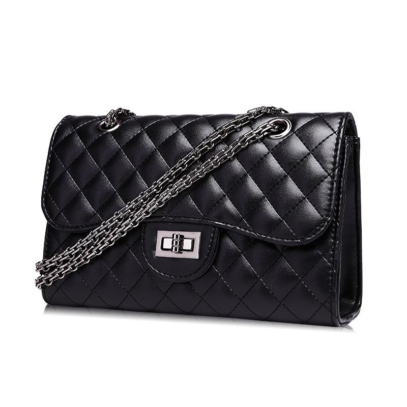 Crossbody Bag Quilted Purse Shoulder Bag for Women with Metal Chain Strap