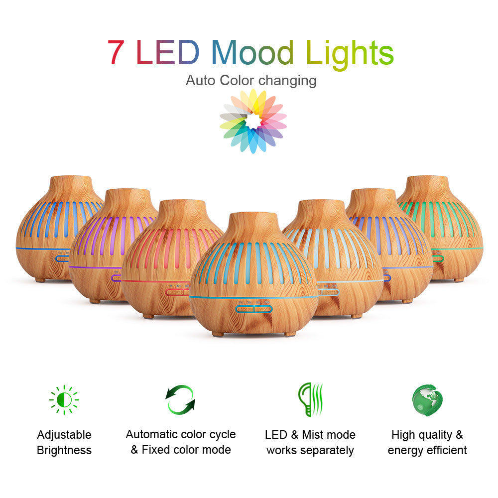 Ultrasonic Essential Oil Diffuser, 400ml Cool Mist Humidifier, for Home & Office
