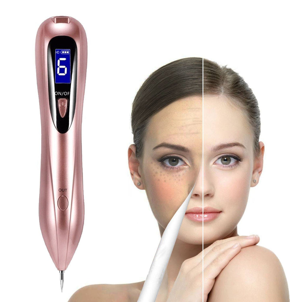 Mole Removal Pen USB Rechargeable Beauty Pen for Freckle Nevus Spot Tattoo Remover, Pink