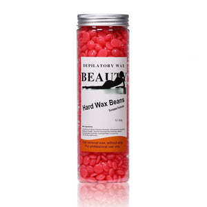 Hair Removal Hard Wax Beans Hard Body Wax Beans For Facial Arm Legs 400g(14.1 oz)/Bottle