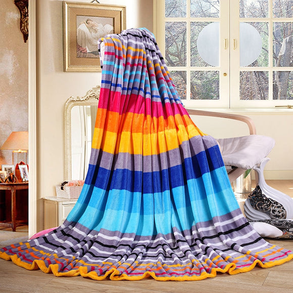 Bright Life Rainbow Blanket