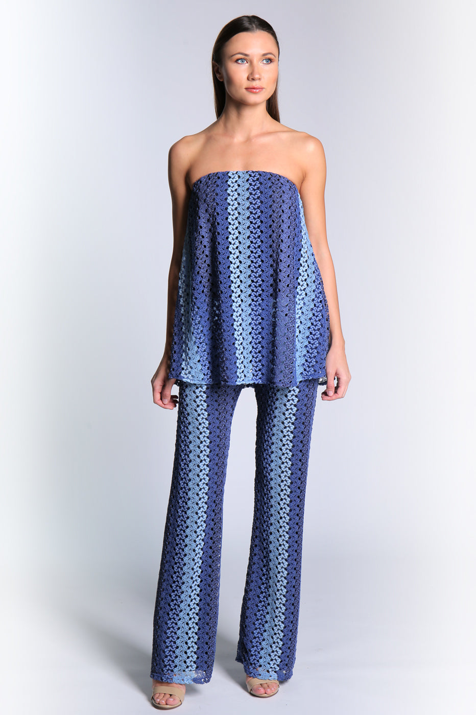 Ala Jumpsuit Blue Crochet