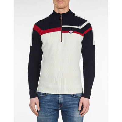 MEN'S KNIT SWEATER Vuarnet  439 NAVY/WHITE/RED XXL  MEN