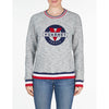 WOMEN'S SWEAT CREW NECK PATCH LOGO Vuarnet  045 Grey XS  WOMEN  TOPS