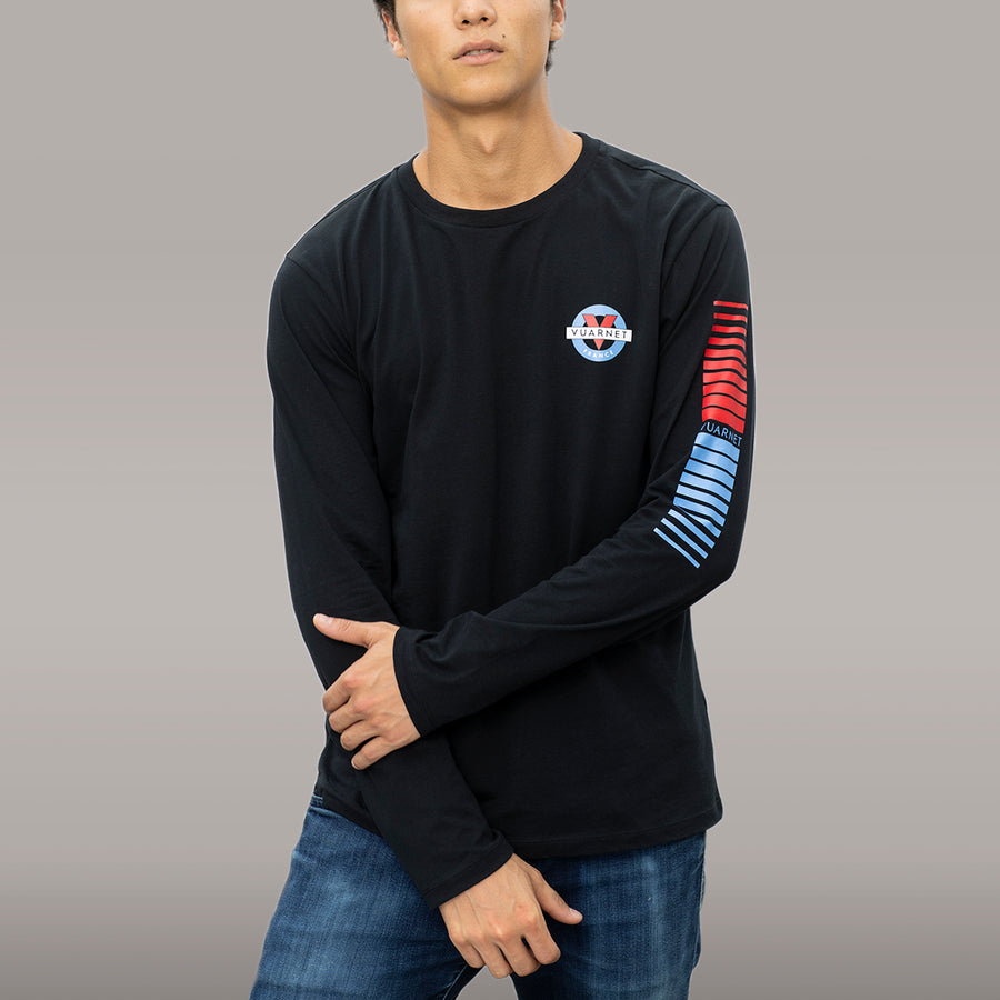 MEN'S LONG SLEEVE TEE WITH CLASSIC LOGO - 001 Black