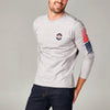 MEN'S LONG SLEEVE TEE WITH CLASSIC LOGO - 081 LT HTR GREY