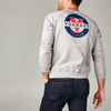 MEN'S LONG SLEEVE TOP WITH CLASSIC LOGO - 081 LT HTR GREY