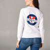 WOMEN'S SWEAT CREW NECK WITH CLASSIC LOGO - 100 White
