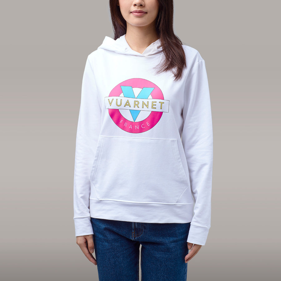 WOMEN'S HOODIE WITH CLASSIC LOGO - 100 White