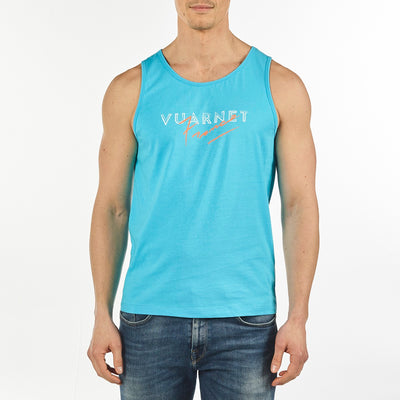 MEN'S TANK VUARNET, 408 LAGOON BLUE XXL  MENS
