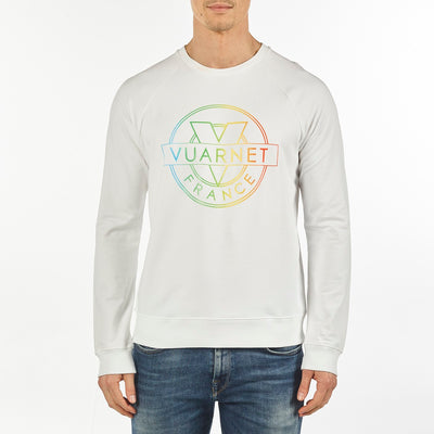 MEN'S SWEAT CREW NECK VUARNET, 101 WHITE XXL  MENS
