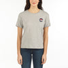 WOMEN'S SSL T-SHIRT VUARNET, 081 LT HTR GREY XS  WOMENS