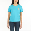WOMEN'S SSL T-SHIRT VUARNET, 408 LAGOON BLUE XS  WOMENS