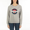 WOMEN'S SWEAT CREW NECK VUARNET, 081 LT HTR GREY XS  WOMENS