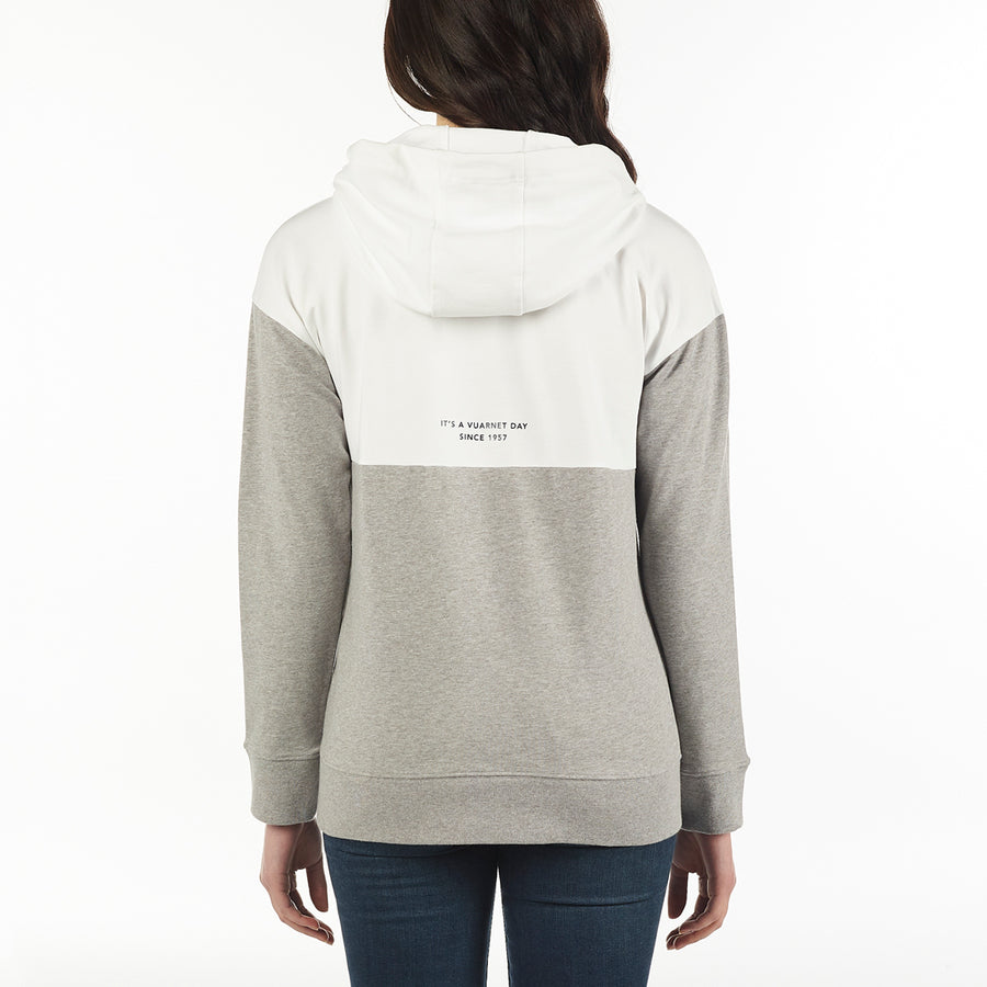 WOMEN'S HOODIE KANGAROO POCKET VUARNET, 100 White XS  WOMENS
