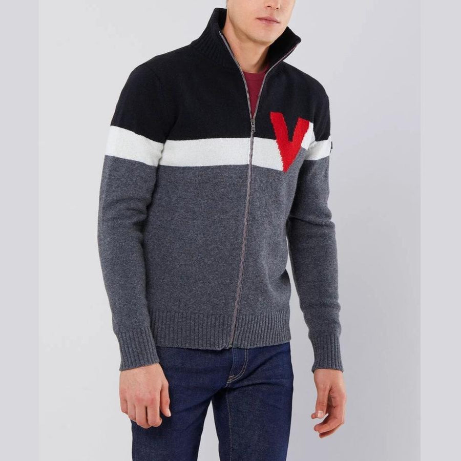 FULL ZIP KNIT - HUBBARD Vuarnet  B02 ANTRACITE MELANGE S  MEN