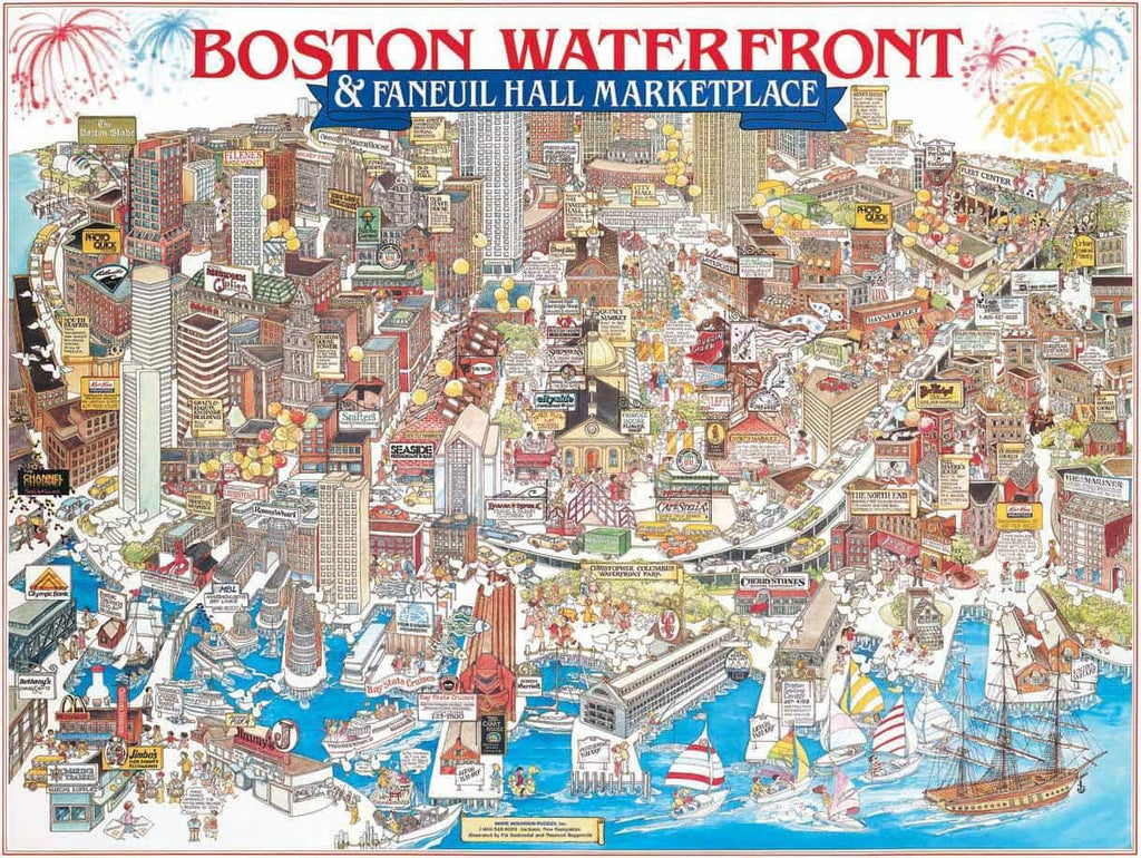 Boston, MA (07PZ) - 1000 Piece Jigsaw Puzzle