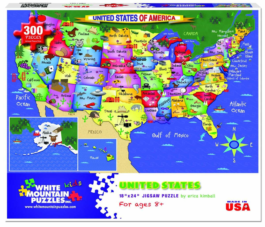 United States of America (1021pz) - 300 Piece Jigsaw Puzzle