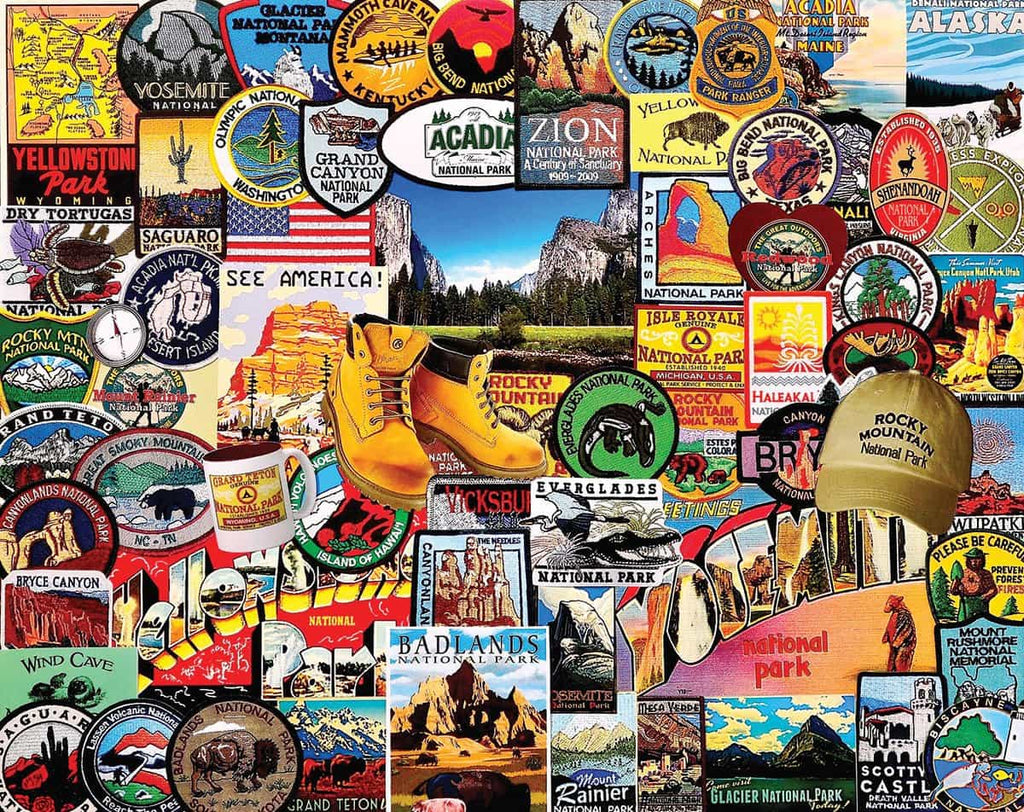 National Park Badges (1057pz) - 1000 Piece Jigsaw Puzzle