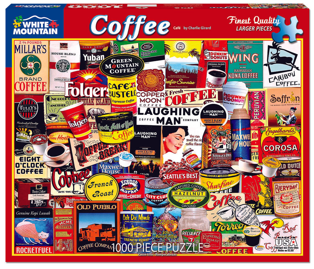 Coffee (1074pz) - 1000 Piece Jigsaw Puzzle