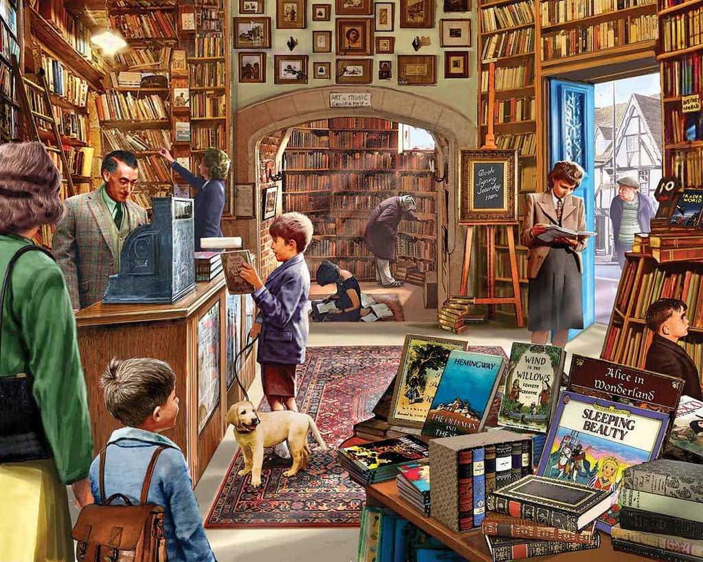 Old Book Store (1082pz) - 1000 Piece Jigsaw Puzzle