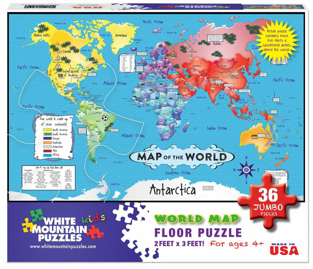 World Map Floor Puzzle - DISC