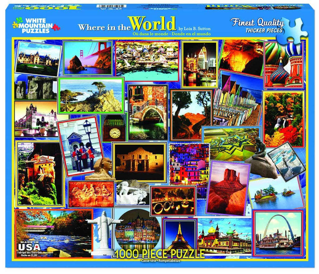 Where in the World - 1000 Pieces - DISC