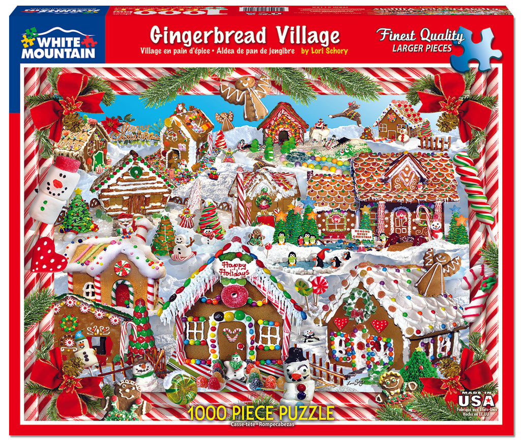 Gingerbread Village (1128pz) - 1000 Piece Jigsaw Puzzle