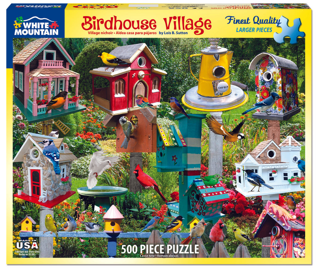 Birdhouse Village (1137PZ) - 550 Piece Jigsaw Puzzle