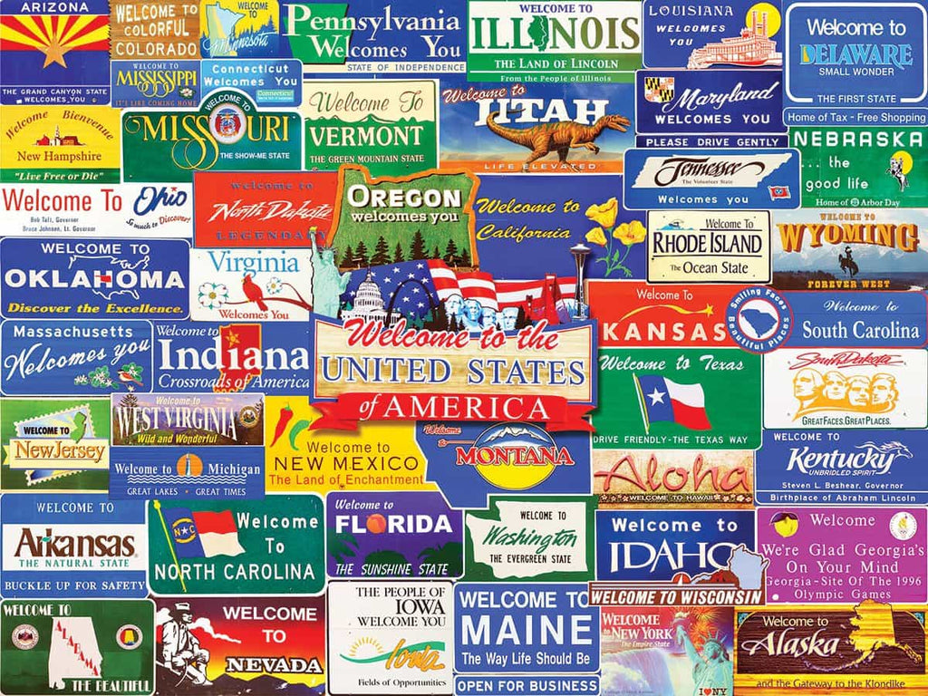 Welcome to America (1145pz) - 1000 Piece Jigsaw Puzzle for Adults