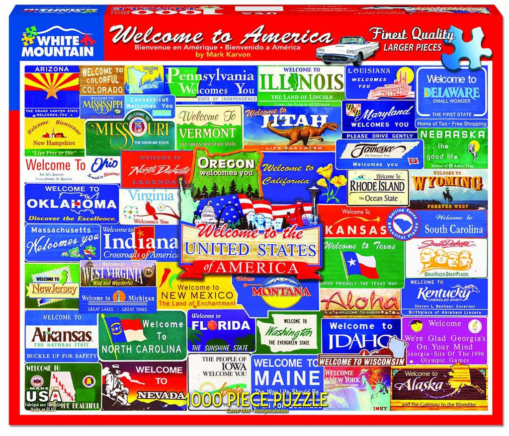 Welcome to America (1145pz) - 1000 Piece Jigsaw Puzzle