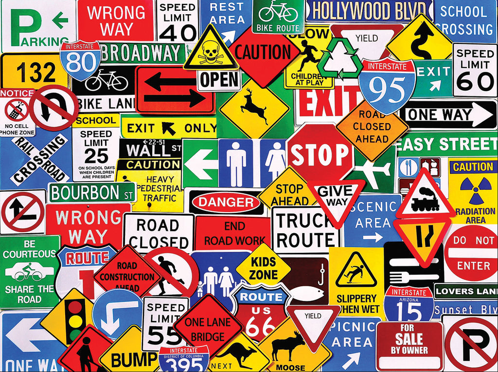 Road Signs (1149pz) - 550 Piece Jigsaw Puzzle
