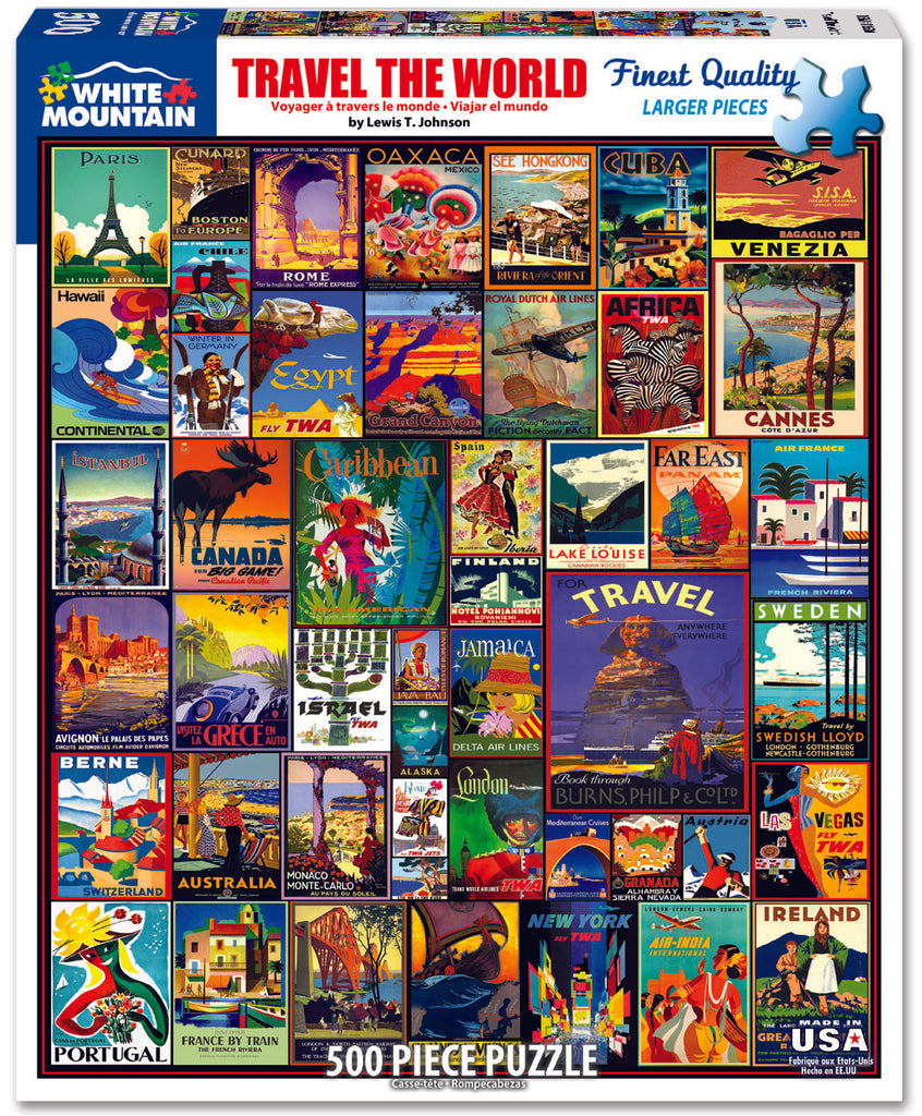 Travel The World (1153PZ) - 550 Piece Jigsaw Puzzle
