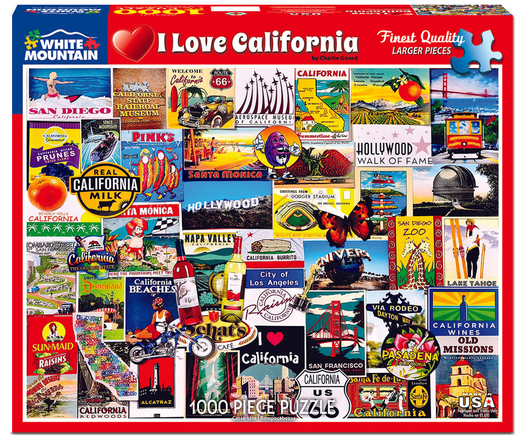 I love California (1161pz) - 1000 Piece Jigsaw Puzzle