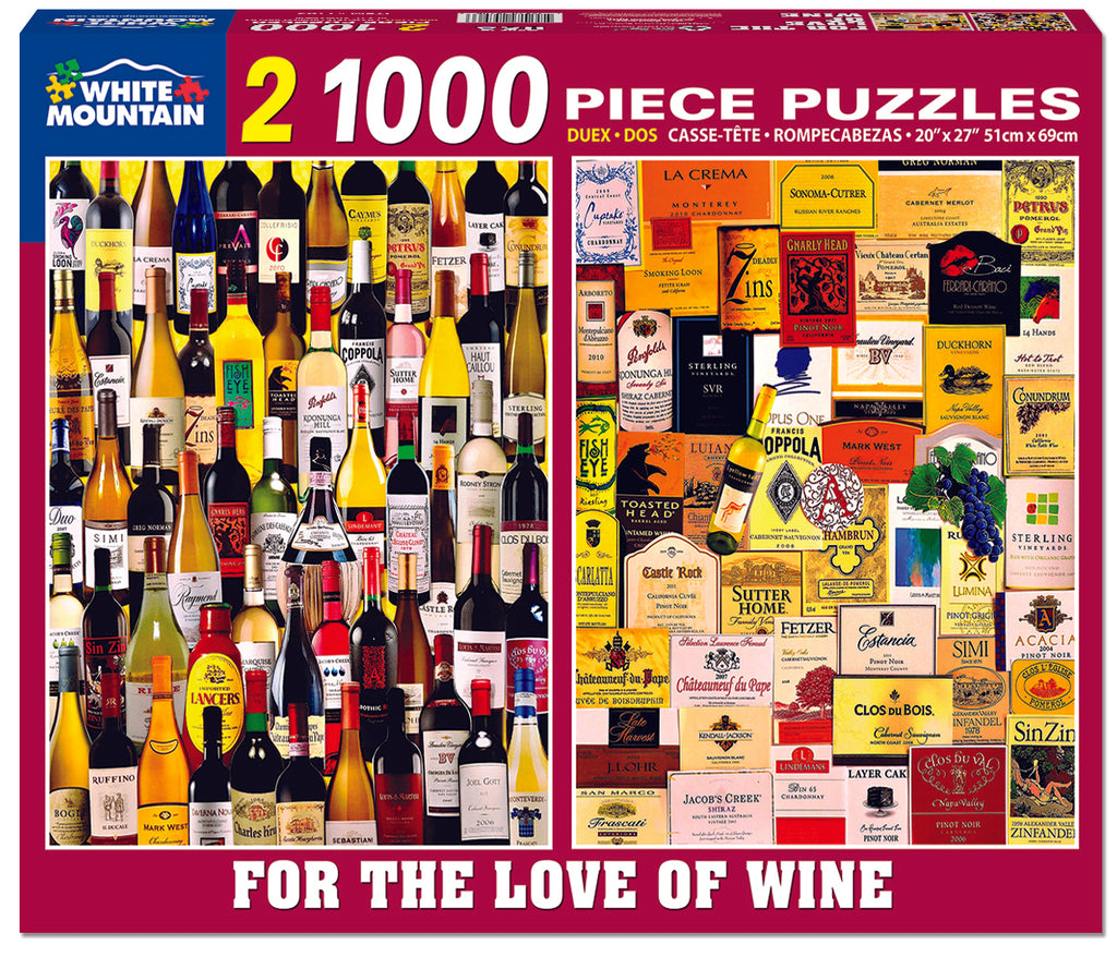 For The Love Of Wine (1165pz) - 1000 Piece Jigsaw Puzzle