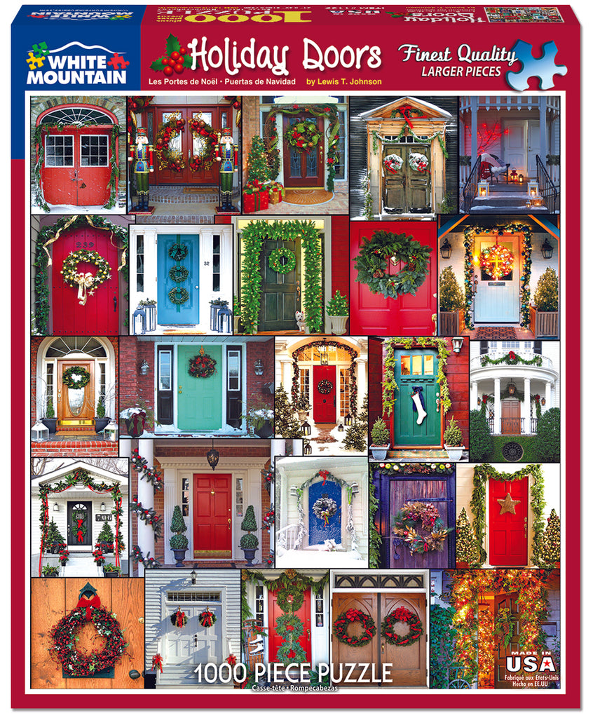 Holiday Doors (1169pz) - 1000 Piece Jigsaw Puzzle