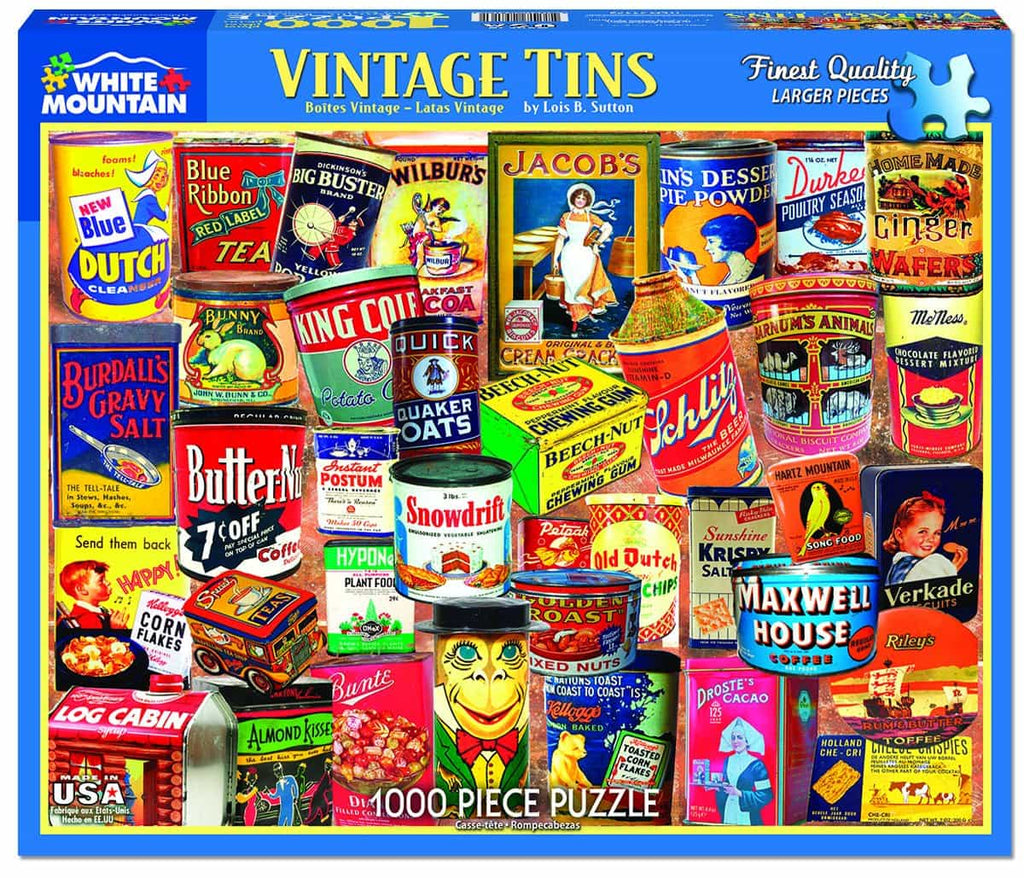 Vintage Tins - 1000 Pieces