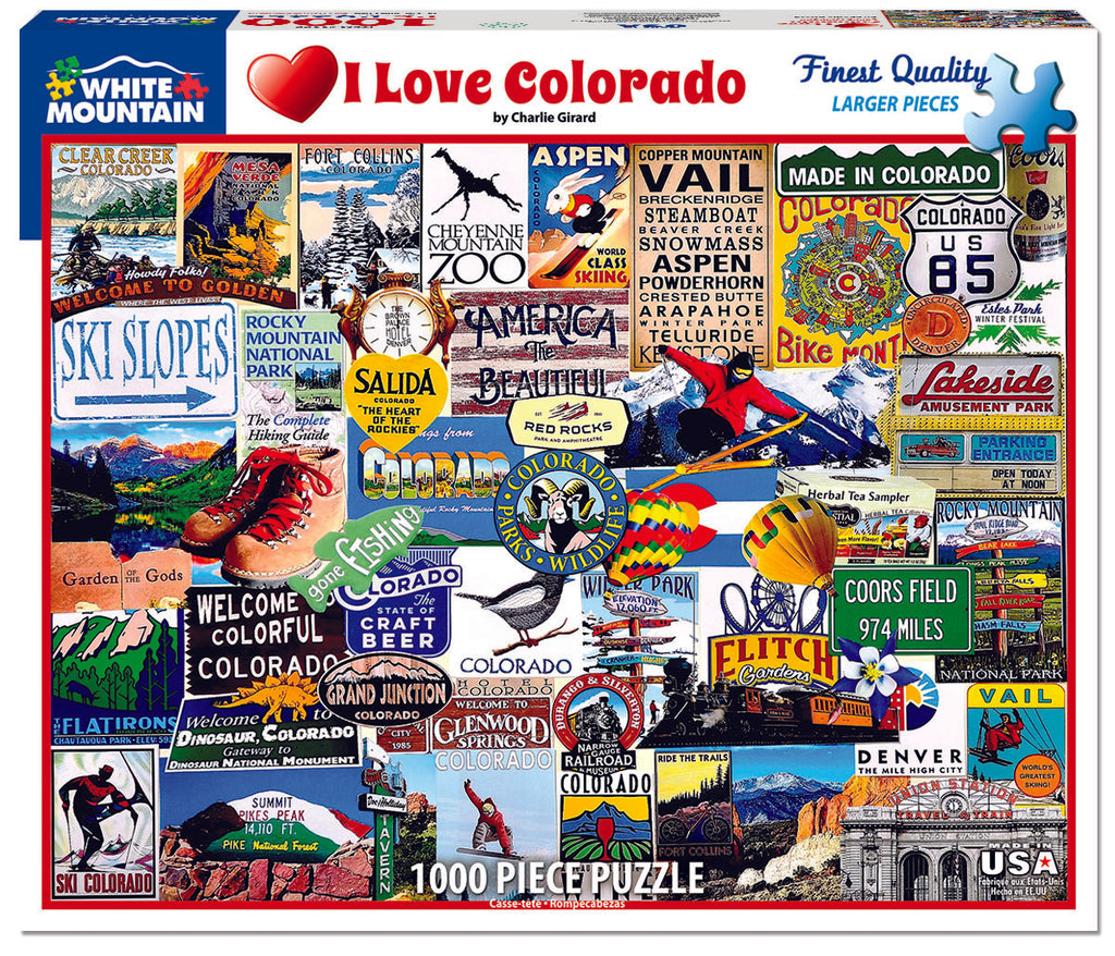 I Love Colorado - 1000 Pieces