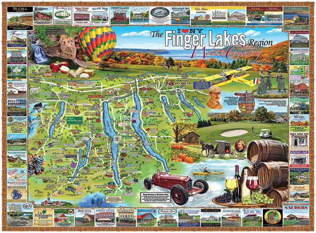 Finger Lakes (1182pz) - 1000 Piece Jigsaw Puzzle