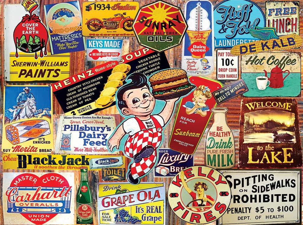 Tin Signs - 300 Pieces