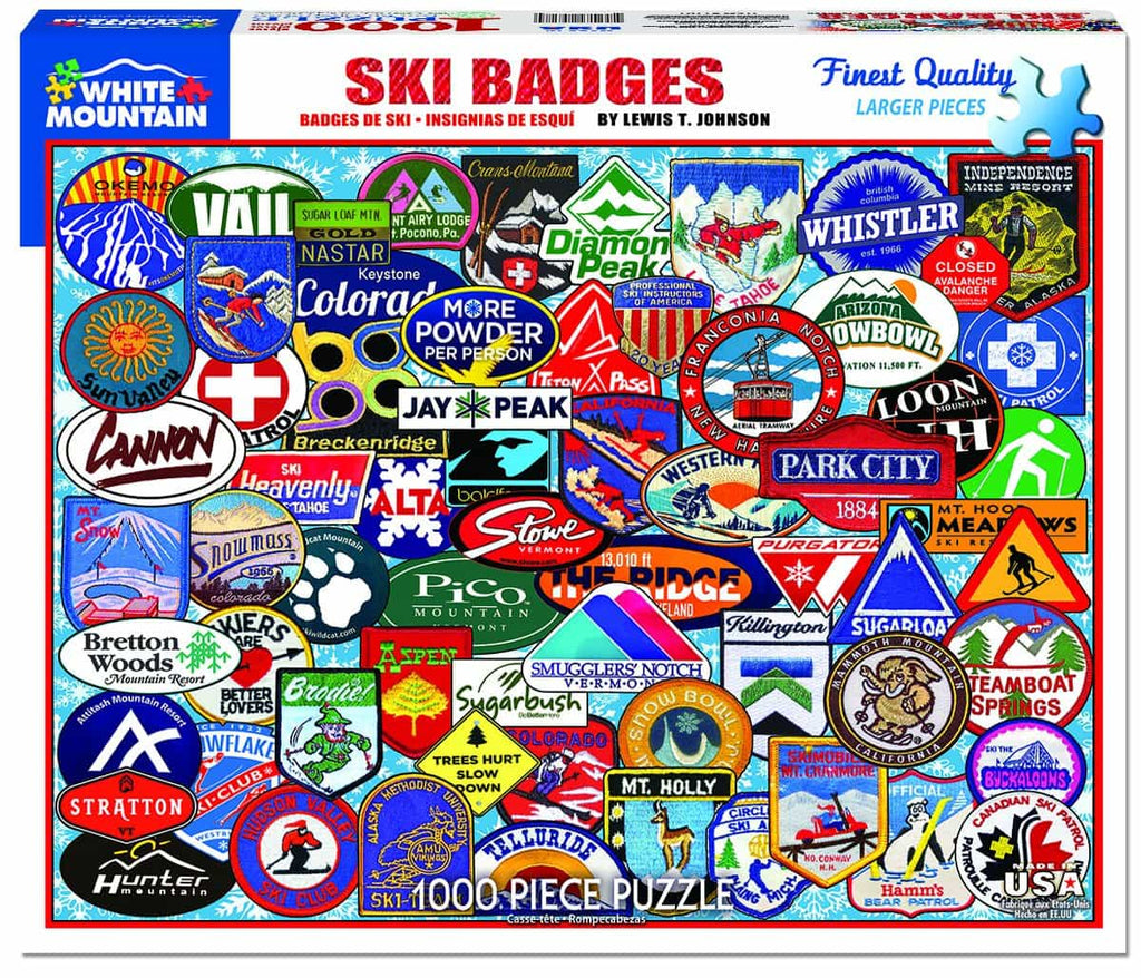 Ski Badges - 1000 Pieces